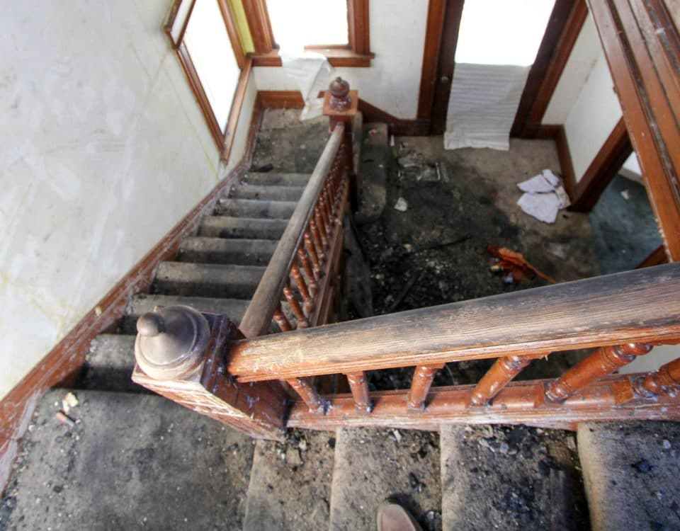 Fire Damage in a Stairwell