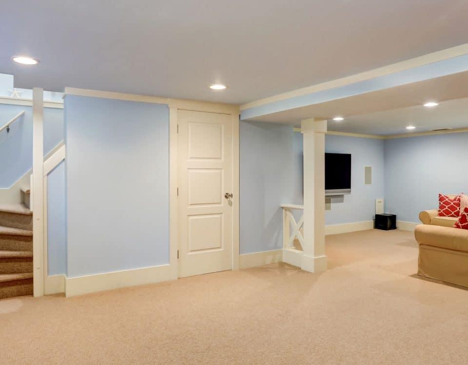 Spacious basement room