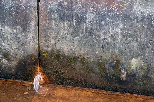 Slab Leak damage, We offer Slab Leak repair so this never happens